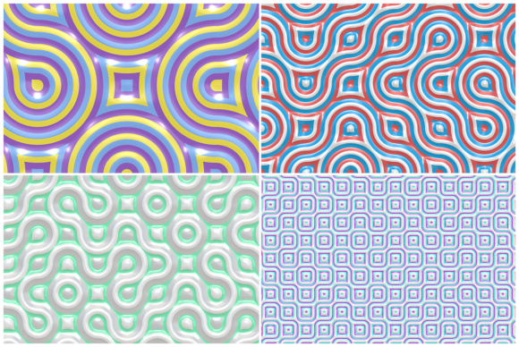 10 Truchet Tilling Backgrounds Graphic Backgrounds By Textures - Image 3