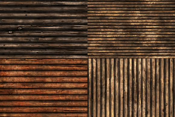 10 Wood Logs Wall Background Texture Graphic Item