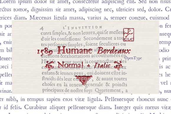 Print on Demand: 1589 Umane Bordeaux Serif Font By GLC Foundry