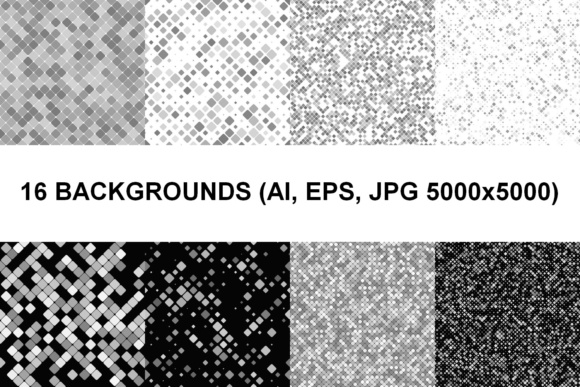 16 Seamless Square Backgrounds Graphic Patterns By davidzydd