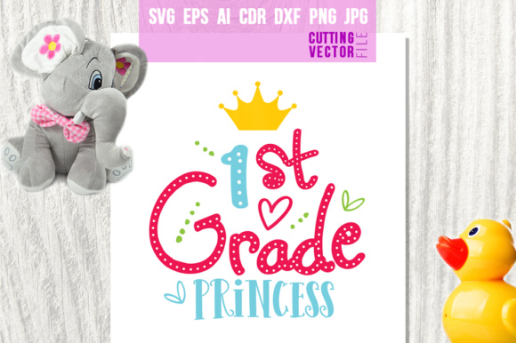 1st Grade Princess Graphic Crafts By danieladoychinovashop