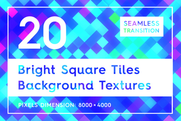 20 Bright Square Tiles Backgrounds Graphic Backgrounds By Textures