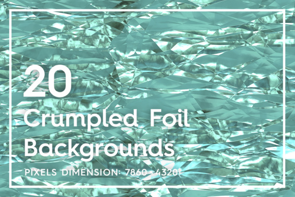 Download Free 20 Crumpled Foil Background Textures Graphic By Textures for Cricut Explore, Silhouette and other cutting machines.