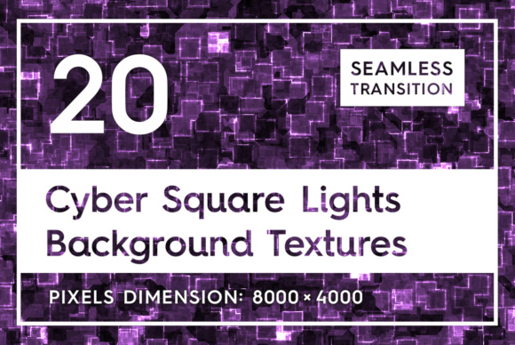 20 Cyber Square Lights Backgrounds Graphic Textures By Textures