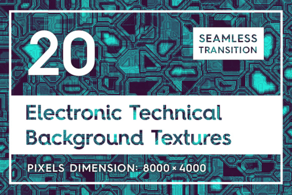 20 Electronic Technical Backgrounds Gráfico Texturas Por Textures