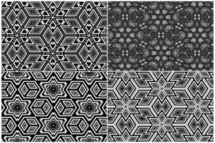 20 Monochrome Geometric Backgrounds Graphic Product Mockups By Textures 3