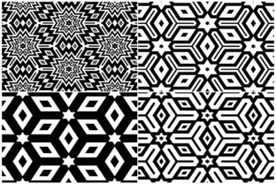 20 Monochrome Geometric Backgrounds Graphic Product Mockups By Textures 4