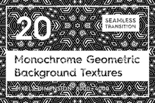 20 Monochrome Geometric Backgrounds Graphic Product Mockups By Textures