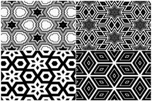 20 Monochrome Geometric Backgrounds Graphic Product Mockups By Textures 6