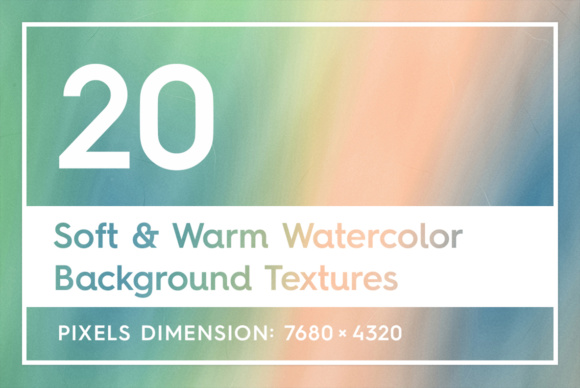 20 Soft & Warm Watercolor Backgrounds Graphic Textures By Textures