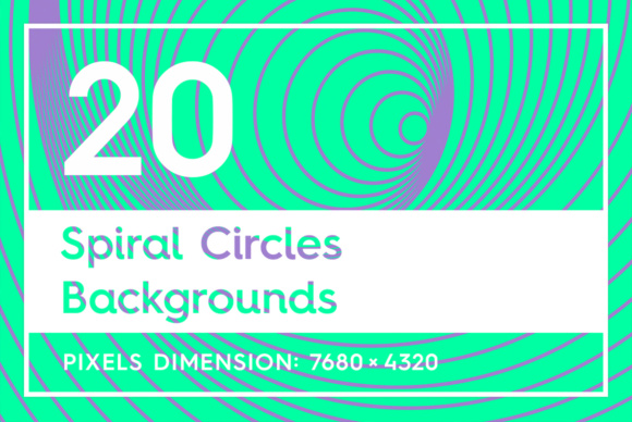 20 Spiral Circles Backgrounds Graphic Backgrounds By Textures