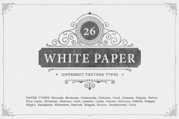 Download Free 26 White Paper Background Textures Graphic By Textures for Cricut Explore, Silhouette and other cutting machines.