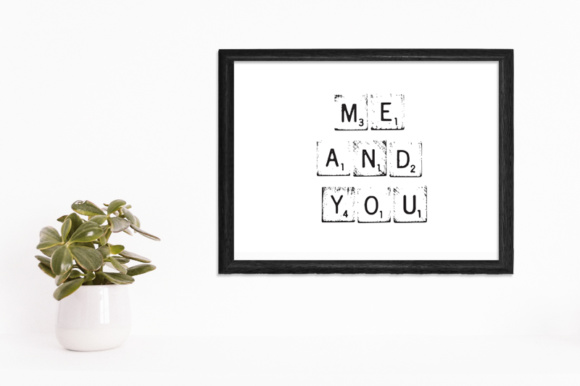 Print on Demand: 29 Print Ready Home Office Wall Art with a Wooden Word Game Blocks Graphic Crafts By GraphicsBam Fonts - Image 1