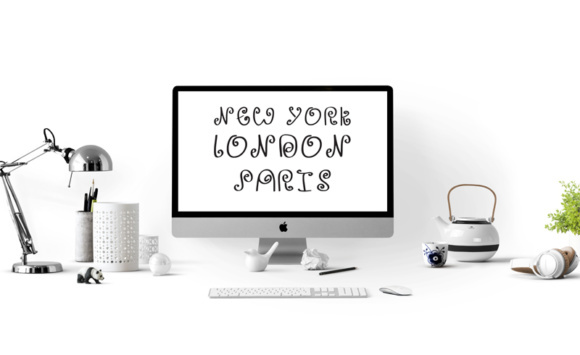 Print on Demand: 29 Print Ready Home Office Wall Art with a Zany Curly Handwritten Style Gráfico Crafts Por GraphicsBam Fonts
