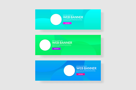 Download Free 3 Set Banner With Gradients Circle Shapes Composition Graphic By for Cricut Explore, Silhouette and other cutting machines.