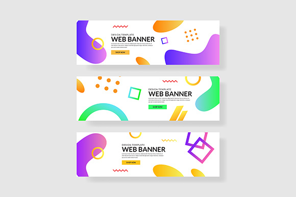 3 Set Fluid Shape with Colorful Gradients UI Graphic Graphic Templates By indostudio