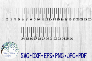 Download Free 36 Inch Ruler Yard Stick Measuring Cut File Graphic By for Cricut Explore, Silhouette and other cutting machines.