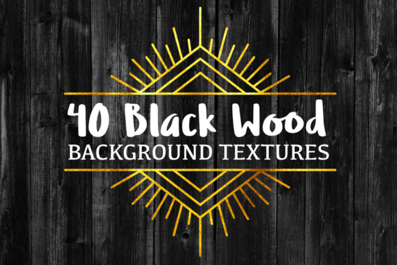 40 Black Wood Background Textures Graphic