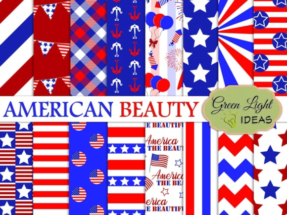 Download Free 4th Of July Digital Papers American Patriotic Backgrounds for Cricut Explore, Silhouette and other cutting machines.