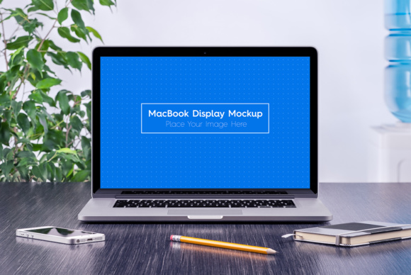 5 Workplace MacBook Display Mockups Graphic Product Mockups By Textures - Image 2