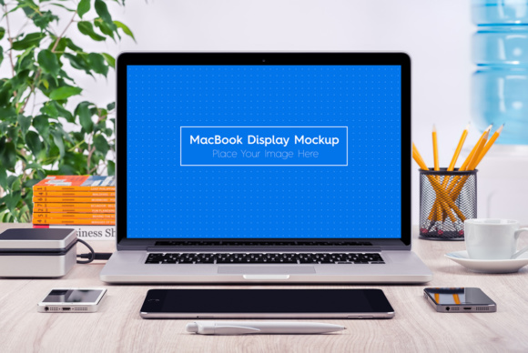 5 Workplace MacBook Display Mockups Graphic Product Mockups By Textures - Image 3