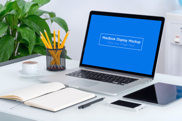 5 Workplace MacBook Display Mockups Graphic Product Mockups By Textures - Image 4