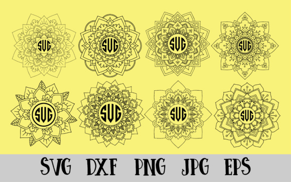 Download Free 8 Mandala Vectors Cut Files Graphic By Goran Stojanovic for Cricut Explore, Silhouette and other cutting machines.