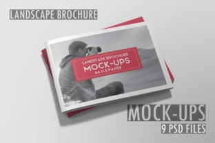 A4 Landscape Brochure Mockup Graphic By graphiccrew