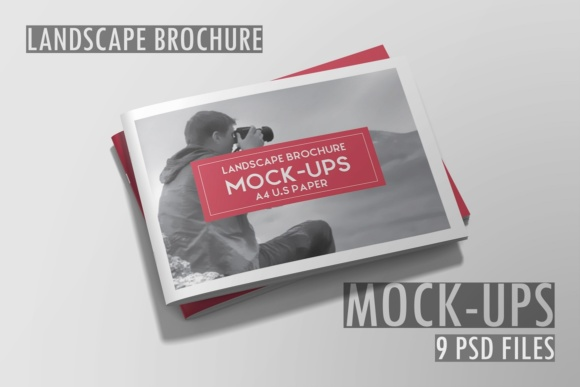 A4 Landscape Brochure Mockup Graphic Product Mockups By graphiccrew