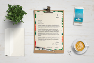 A4 One Page Mockup Graphic Product Mockups By Textures