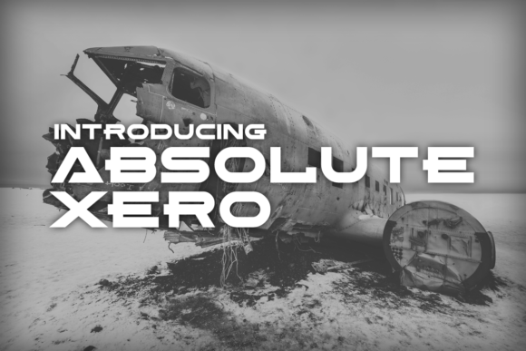 Absolute Xero Display Font By Chequered Ink