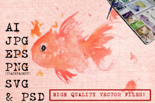 Download Free Abstract Fish Watercolor Graphic By Ambar Art Creative Fabrica for Cricut Explore, Silhouette and other cutting machines.
