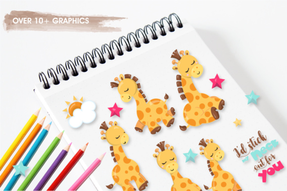 Print on Demand: Adorable Giraffes Graphics and Illustrations Graphic Illustrations By Prettygrafik - Image 2