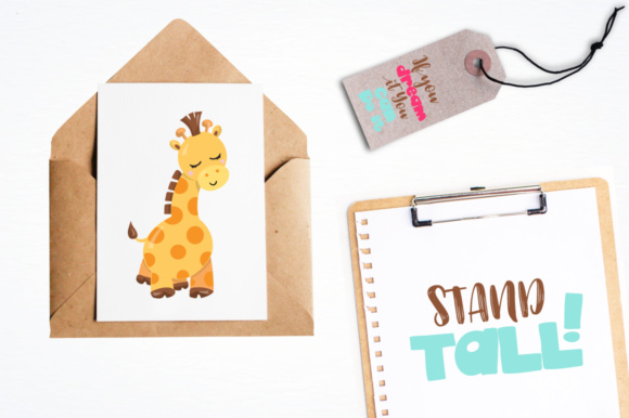 Print on Demand: Adorable Giraffes Graphics and Illustrations Graphic Illustrations By Prettygrafik - Image 3