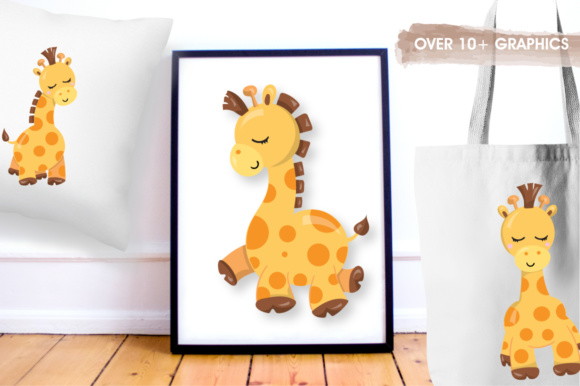 Print on Demand: Adorable Giraffes Graphics and Illustrations Graphic Illustrations By Prettygrafik - Image 4