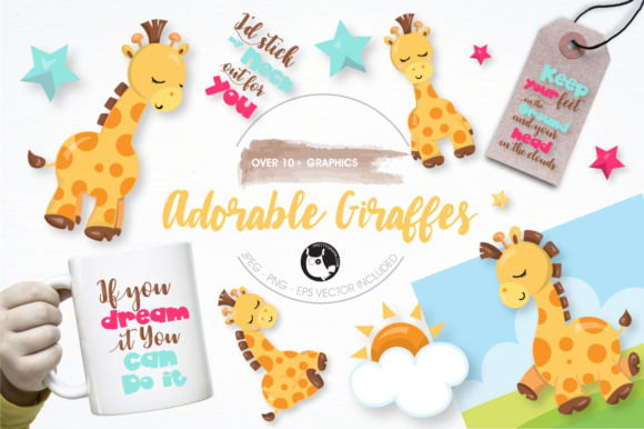 Print on Demand: Adorable Giraffes Graphics and Illustrations Graphic Illustrations By Prettygrafik - Image 5