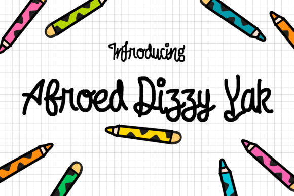 Print on Demand: Afroed Dizzy Yak Display Font By Chequered Ink