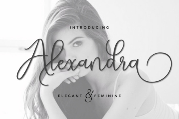 Print on Demand: Alexandra Script Script & Handwritten Font By Cooldesignlab
