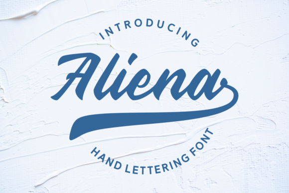Print on Demand: Aliena Script & Handwritten Font By Rifki (7ntypes)