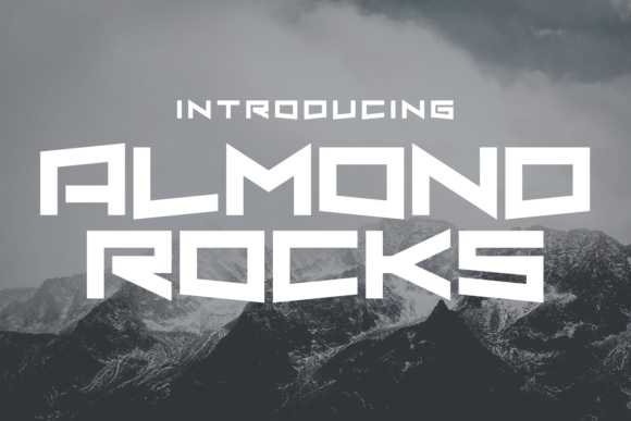 Print on Demand: Almond Rocks Display Font By Chequered Ink