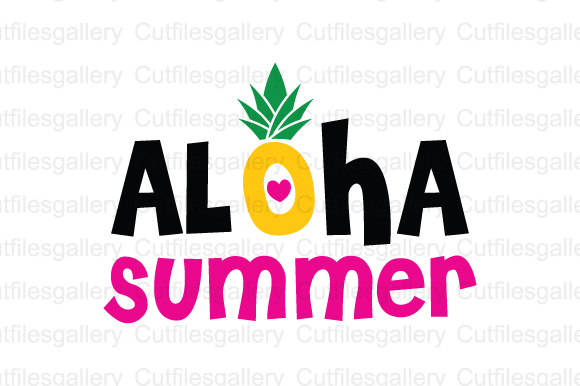 Aloha Summer Cut File Graphic By Cutfilesgallery Creative Fabrica