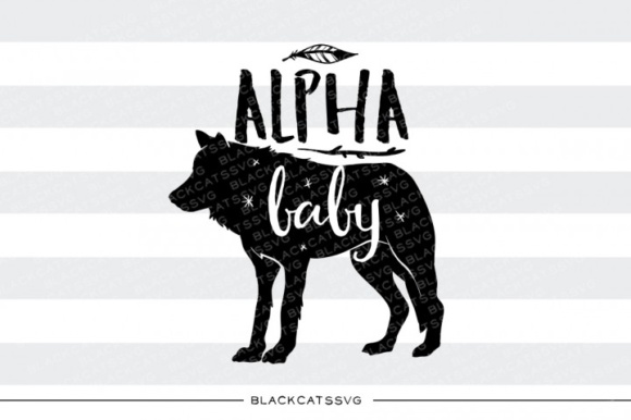 Alpha Baby Wold SVG Quote Gráfico Crafts Por BlackCatsMedia