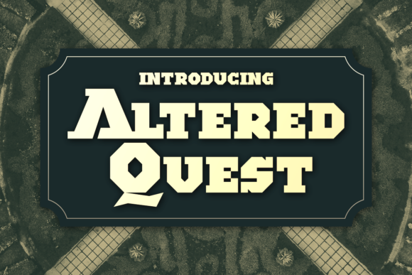 Print on Demand: Altered Quest Display Font By Chequered Ink