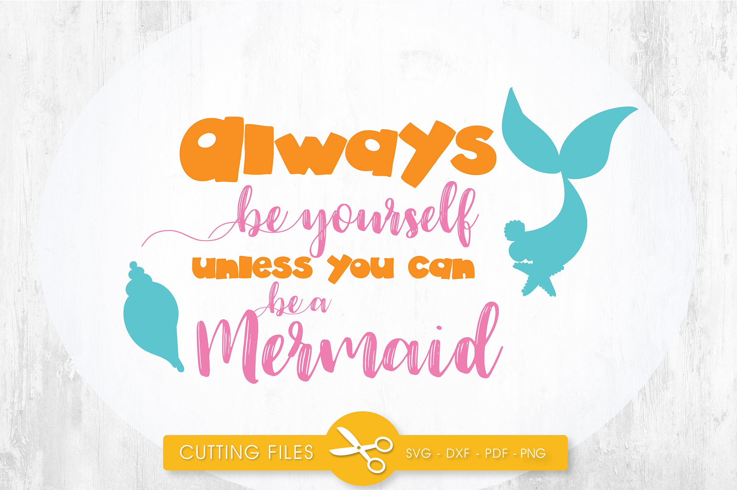 Download Free Always Be Yourself Graphic By Prettycuttables Creative Fabrica for Cricut Explore, Silhouette and other cutting machines.