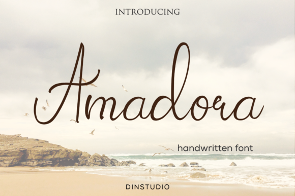 Print on Demand: Amadora Script & Handwritten Font By Din Studio