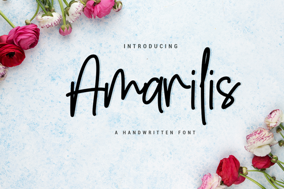 Print on Demand: Amarilis Script & Handwritten Font By silverdav - Image 1