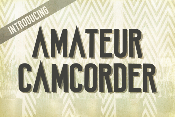 Print on Demand: Amateur Camcorder Display Font By Chequered Ink