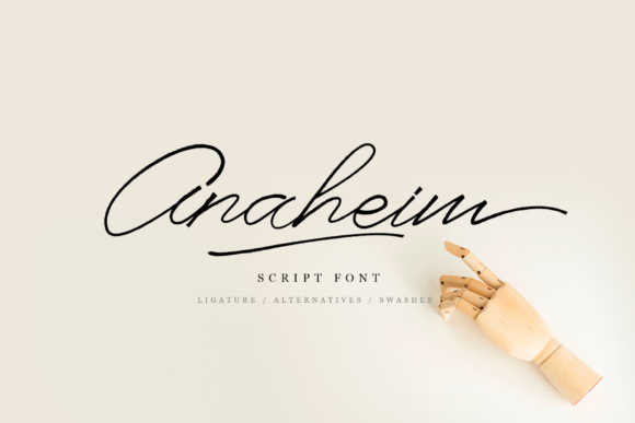 Print on Demand: Anaheim Script Script & Handwritten Font By e.myself12