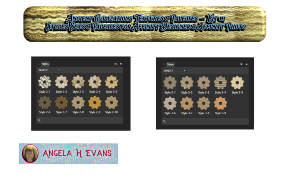 Ancient Civilizations Styles & Palettes for Affinity Photo & Affinity Designer Kit #1 Graphic By Angela H. Evans Image 6