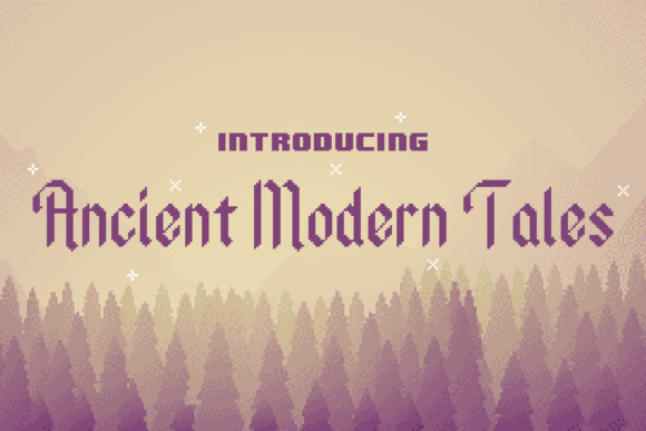 Print on Demand: Ancient Modern Tales Display Font By Chequered Ink
